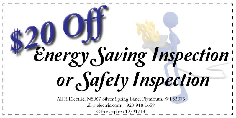 Energy Saving or Safety Inspection coupon - $20 Off